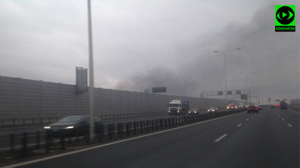 Pożar przy POW Kontakt24