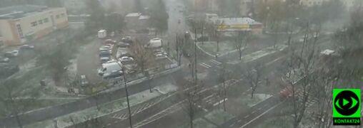 """""""Zima w kwietniu"""". W Białymstoku spadł śnieg"""