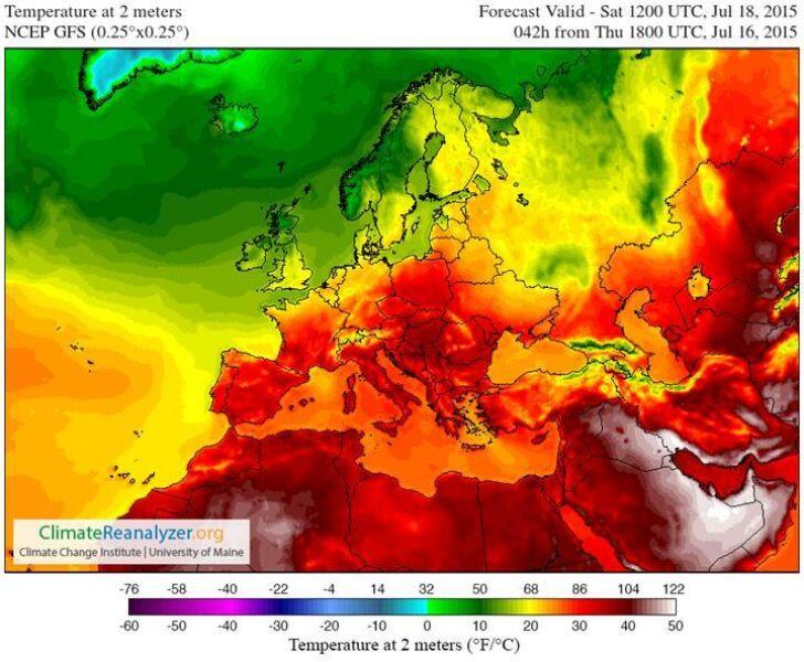 Temperatura na sobotę (18.07) w Europie