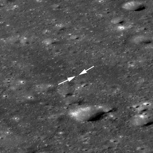 Chang'e 4 na powierzchni Księżyca (NASA/GSFC/Arizona State University)