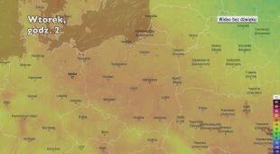 Prognozowana temperatura w najbliższych dniach (Ventusky.com) | wideo bez dźwięku