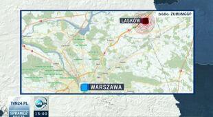 Potężna wichura w Mazowieckim (TVN24)